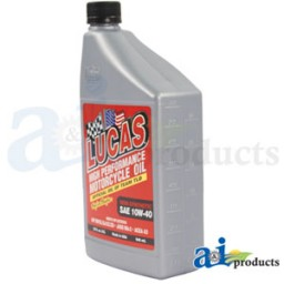 10710 - Lucas 10W40 Semi-Synthetic Motor Cyle Oil; Case Of 6 Quarts