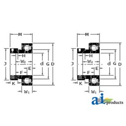 1103KRR-I - Bearing, Ball; Cylindrical W/ Collar, Non-Relubricatable