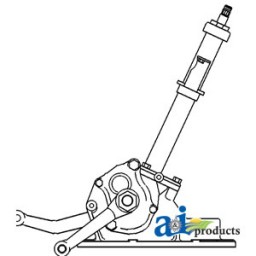 1673663m1 Steering Box Assembly