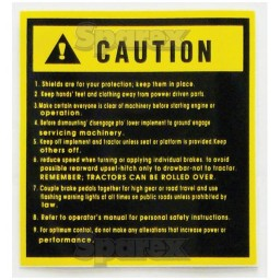 S.23124 Decal- Caution