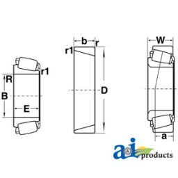 386A-I - Cone, Tapered Roller Bearing