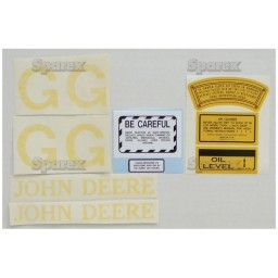 S.52719 Decal Kit, Jd G - Clear