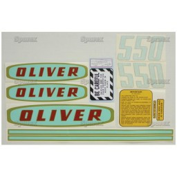 S.53155 Decal Kit, 550 Gas Green/Gold