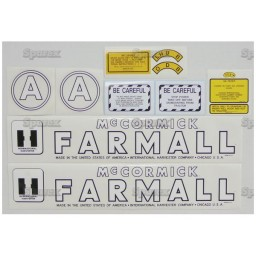 S.56924 Decal Kit, Farmall A