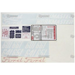 S.66696 Decal Kit, 601, 58-62