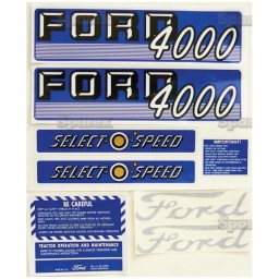 S.66884 Decal Kit, 4000, Select-O-Speed