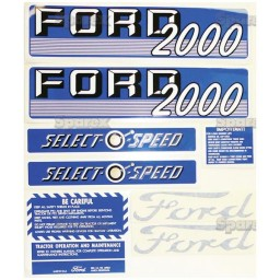 S.66886 Decal Kit 2000 Select-O-Speed