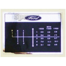 S.67192 Decal, Shift Pattern, 4 Speed