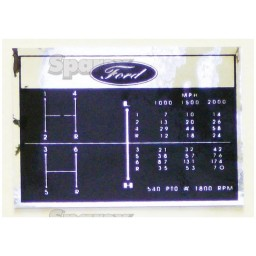 S.67193 Decal, Shift Pattern, 6 Speed
