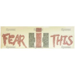 S.67826 Fear This Ih Decal