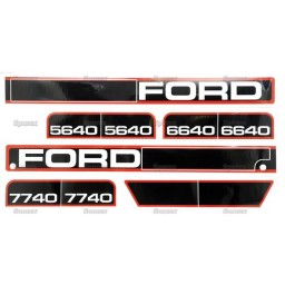 S.68246 Decal Set - Hood Ford 5640,6640,7740
