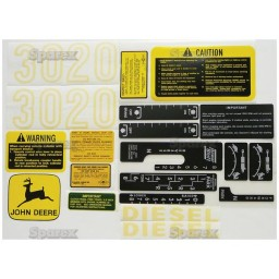S.68346 Decal Kit - Complete Jd3020
