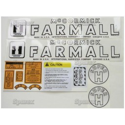 S.70717 Decal Kit, Farmall Super H