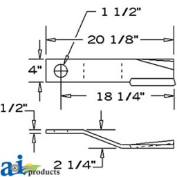 8590 - Blade, Rotary Cutter, CW, Lift