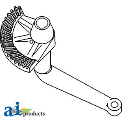 9n3527 Steering Sector Gear Lh on white ford atlas
