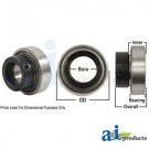 RA108RR-I - Bearing, Ball; Cylindrical W/ Collar, Non-Relubricatable