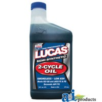 10120-12 - Lucas Semi-Synthetic 2-Cycle Racing Oil (case of 12 x 16 oz