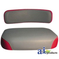 1019806M91-16 - Seat Cushion, Steel, GRY/RED