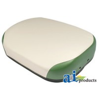 105812ASB-11 - Seat Cushion, Steel, WHT/GRN