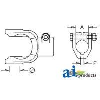 141022020 - Implement Yoke Round Bore Clamp Style