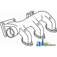 166871A - Manifold, Exhaust (Front)