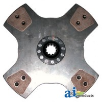 "167967C93 - Seperator Drive Clutch Disc: 12"", 4-button, solid"