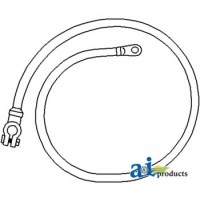 """26A148 - Cable, Battery to Starter, 48"""", 2 Ga."""