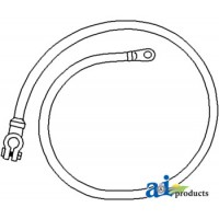 """26A172 - Cable, Battery to Starter, 75"""", 1/0 Ga."""