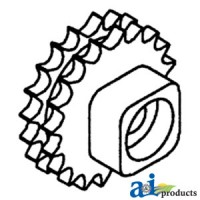 273458M91 - Sprocket, Double Chain