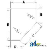 338428A1 - Glass, Door, Lower (RH)