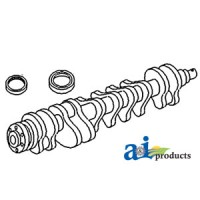 3637408M91 - Crankshaft, Keyed Nose, Lip Seal
