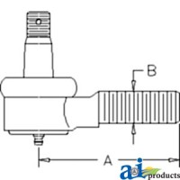 3A011-62922 - Tie Rod End, Steering Cylinder