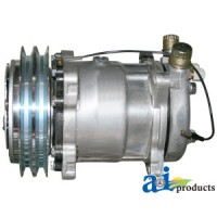 4330274 - Compressor, New, Sanden w/ Clutch (8387)