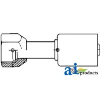 461-3315 - Straight Female Flare Steel Beadlock Fitting