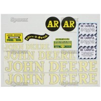 S.52712 Decal Kit, Jd Ar - Blk