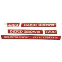 S.63347 Decal Kit, Db,1200, Selectamatic