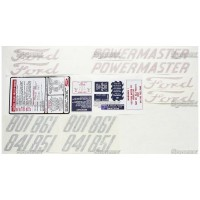 S.66698 Decal Kit, 801, 58-62