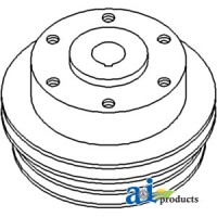 747751M1 - Pulley, Water Pump (3 Groove)