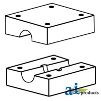 800922M91 - Walker Return Pan Wood Bearing BLOCKS