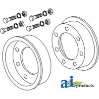 80A502 - Rim, Two Wheel Halves w/ Bolts