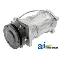 A160638 - Compressor, New, A6 w/ Clutch (1 groove 5 pulley, 12V