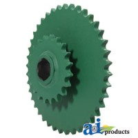 AE39652 - Sprocket, Double; Lower Drive Roll, 20/40 Tooth
