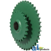 AE54302 - Sprocket, Double; Lower Drive Roller, 40/24 Tooth