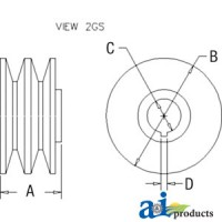 Afd5006 - Pulley, 2V-Groove