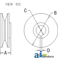 Afd5008 - Pulley, 1V-Groove