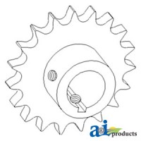 AH147557 - Sprocket, Tailings Elevator Spout, Upper
