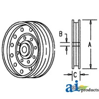 Ah96292 - Pulley, Flanged Idler