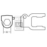 "BP510047752 - Tractor Yoke, Hex Bore 1 1/8"", QD"