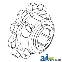 H118583-S - Sprocket, Split Feederhouse