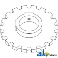 H135772 - Sprocket, Feeder House Dust Fan